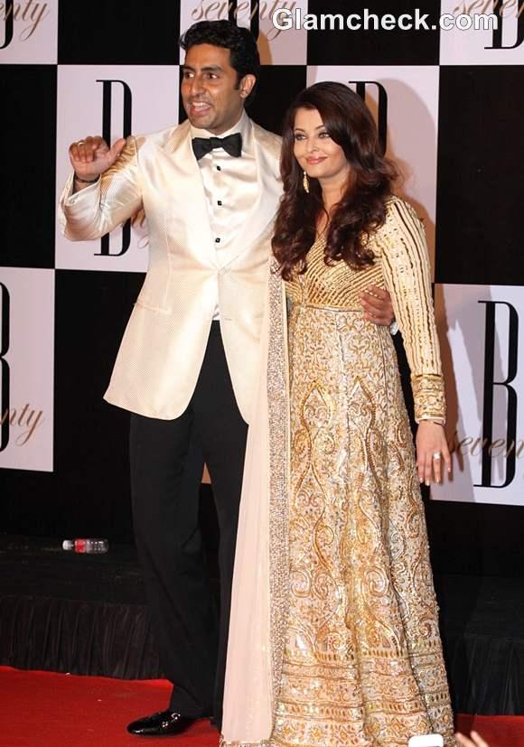 Abhishek Bachchan Aishwarya rai at amitabch 70th birthday bash