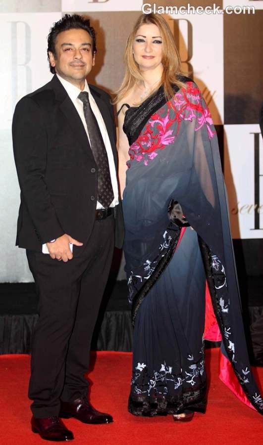 Adnan Sami along wife Roya Fariyabi bollywood couple