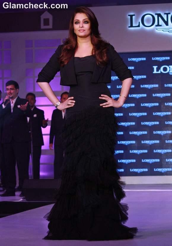 Aishwarya Rai Bachchan black dress Longines New Saint Imier Collection