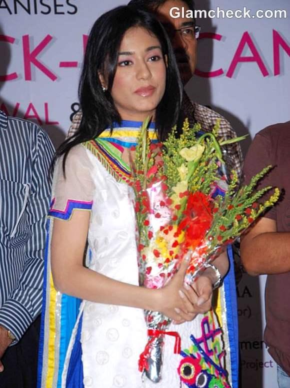 Amrita Rao at Free Eye Check-up Campaign Launch