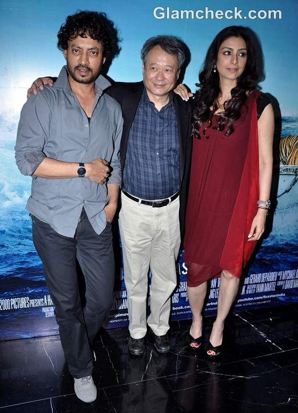 Ang lee promotes life of pi with cast in mumbai for Life of pi cast