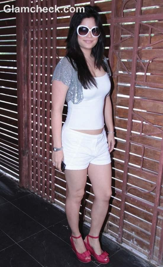 Arzoo Govitrikar white shorts launch Brunch