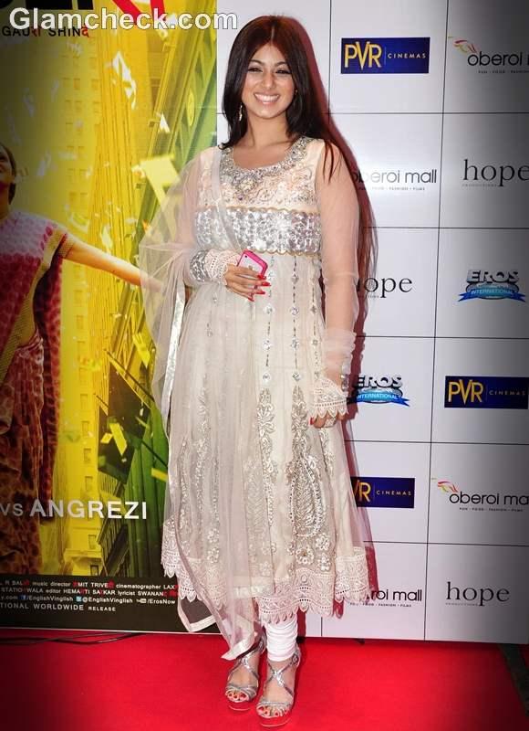 Ayesha Takia 2012 ethnic wear english vinglish premiere