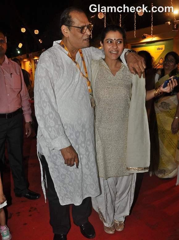 Bollywood actress Kajol Durga pooja