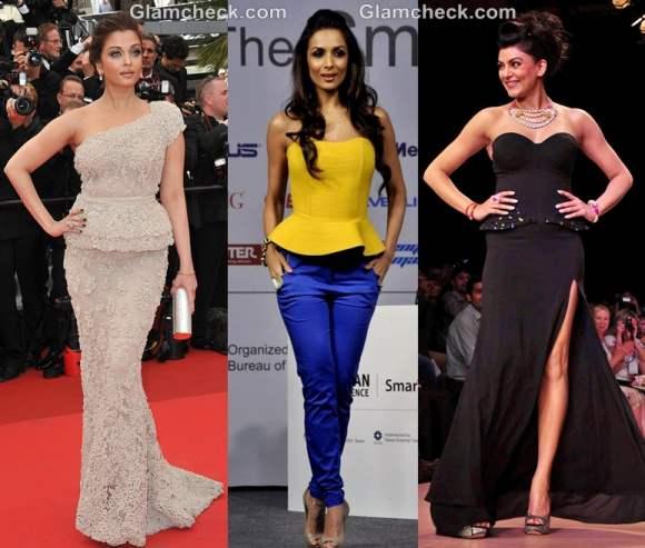 Bollywood celebs Peplum gowns 2012