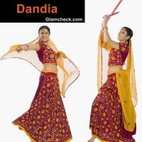 Dandia traditional attire Navratri women