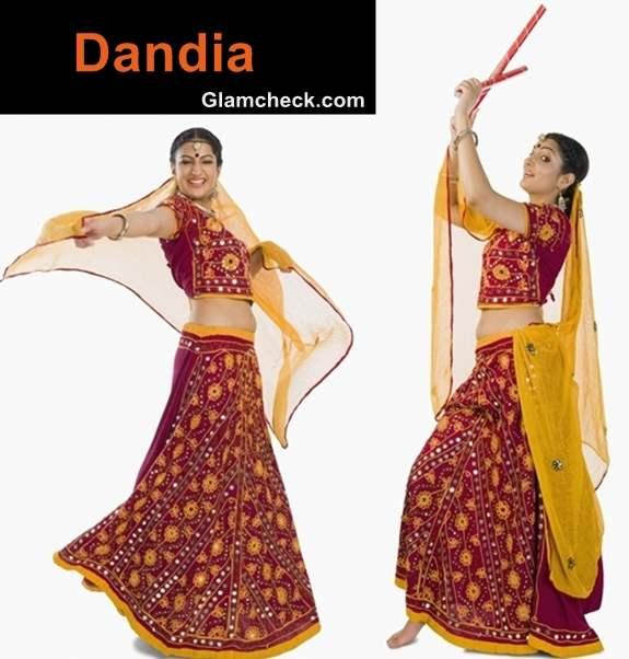 Dandia traditional attire Navratri women