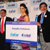 Deepika Padukone at the Launch of Orbit IDA National Oral Health Card