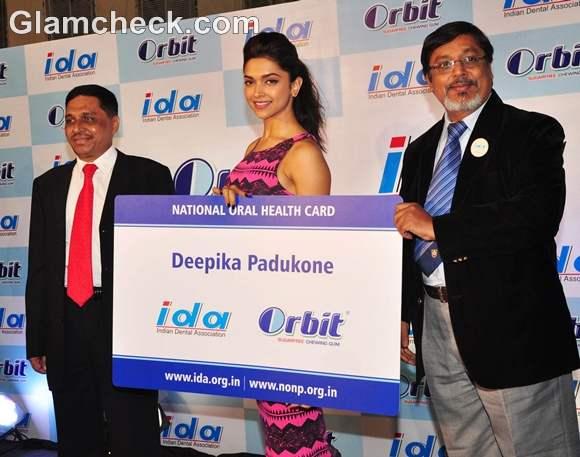 Deepika Padukone at the Launch of Orbit IDA National Oral Health Card