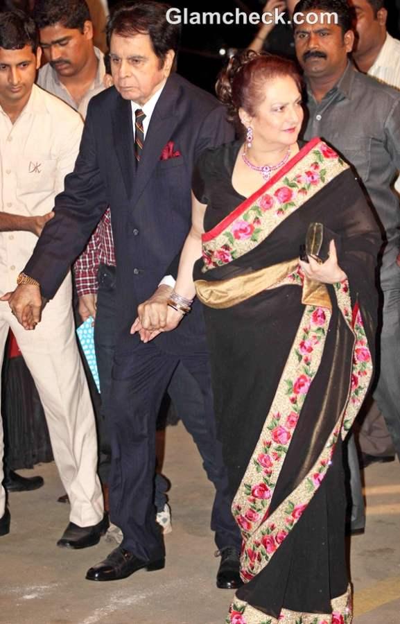 Dilip Kumar Saira Banu bollywood couple amitabh 70 birthday bash