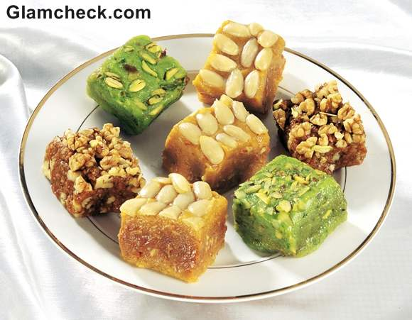 Diwali Sweets how to serve