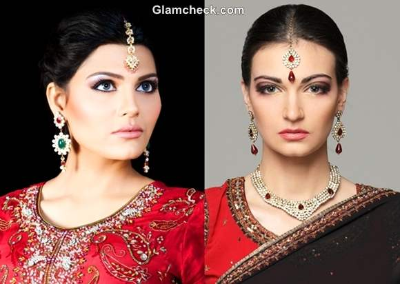 Diwali hairstyle makeup 2012