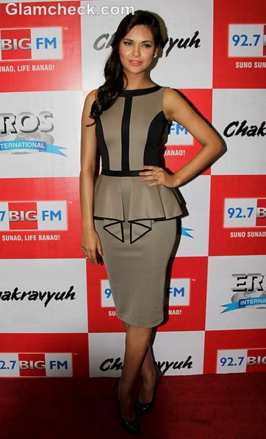 Esha Gupta in Peplum at the music launch of Chakravyuh