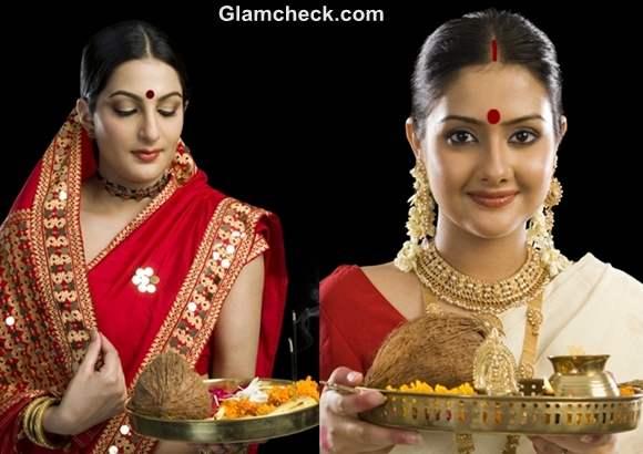 Hairstyle makeup Diwali puja 2012