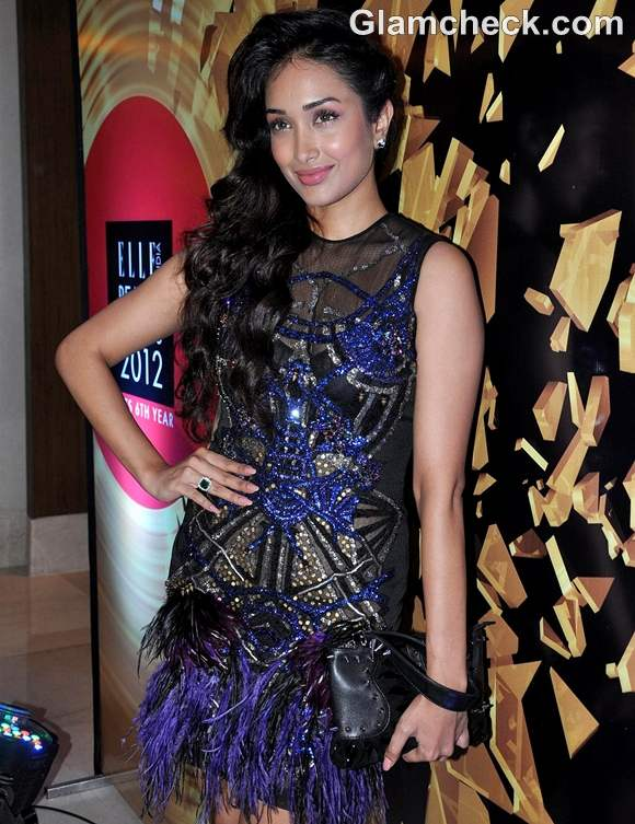 Jiah Khan at Elle Beauty Awards 2012