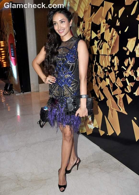 Jiah Khan dress at Elle Beauty Awards 2012