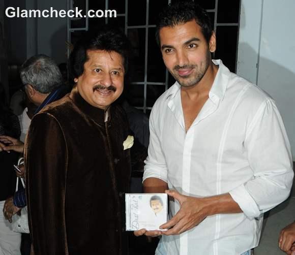 John Abraham Launches Pankaj Udhas Album Dastkhat