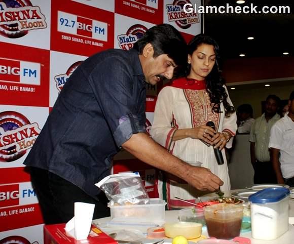 Juhi Chawla Launches Big Memsaaab 92-7 BIG FM chef Rakesh Sethi