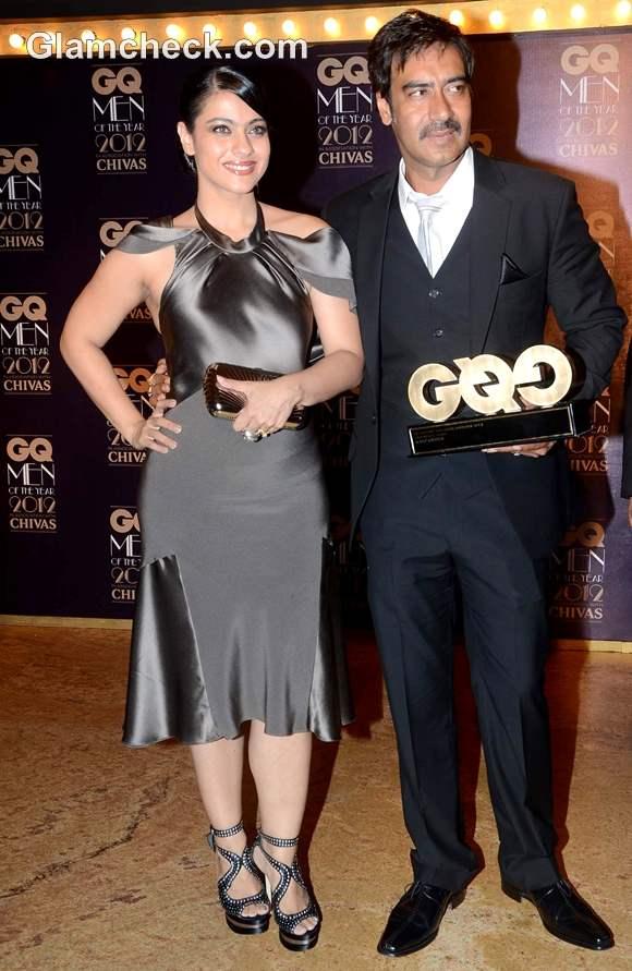 Kajol Ajay Devgan GQ Men Of The Year Awards 2012