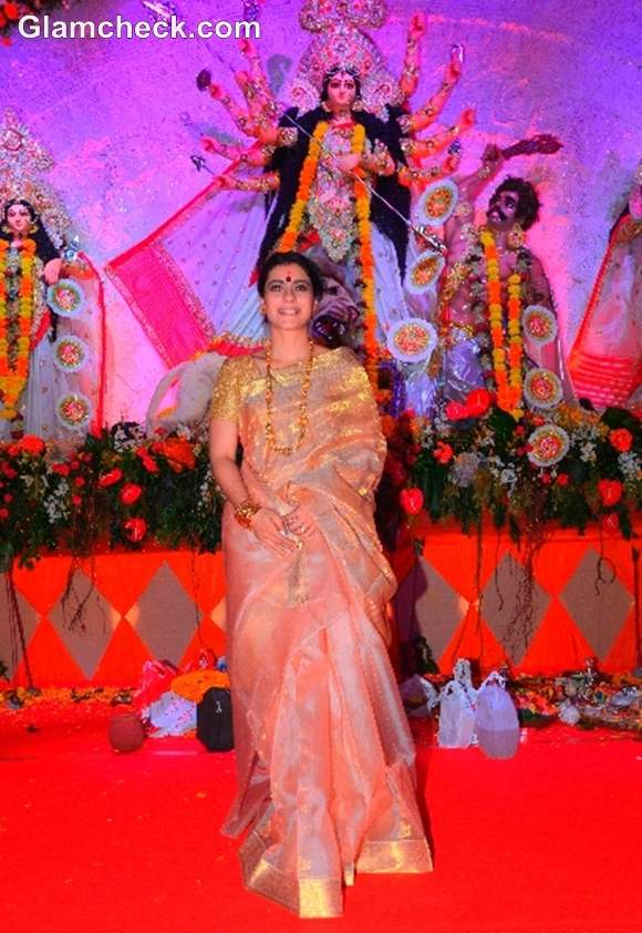 Kajol Durga Puja Celebration in Mumbai
