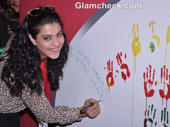 Kajol Spreads Awareness on Global Hand Washing Day