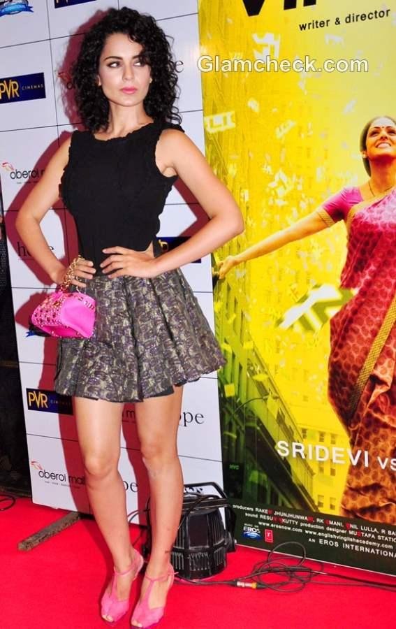 Kangana Ranaut Glorious In Flared Mini Skirt At English