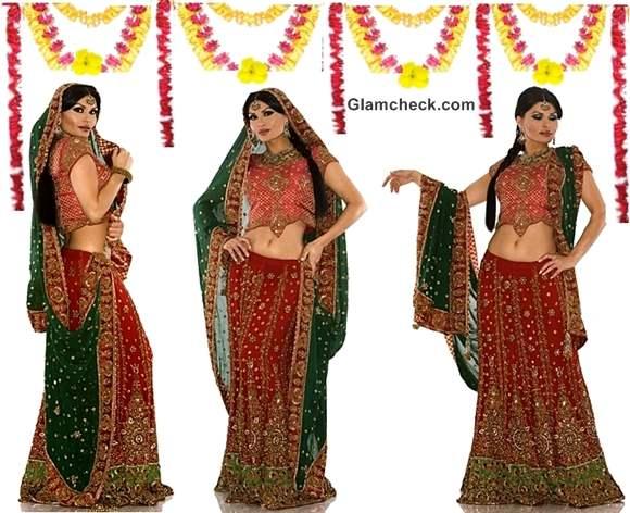 Karva Chauth lehenga drapes tips