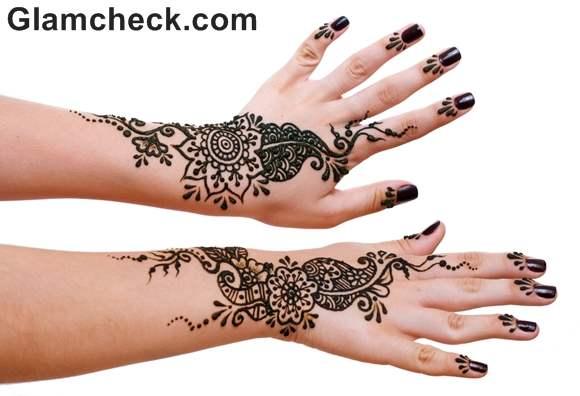 Karva Chauth mehndi designs arabic hands
