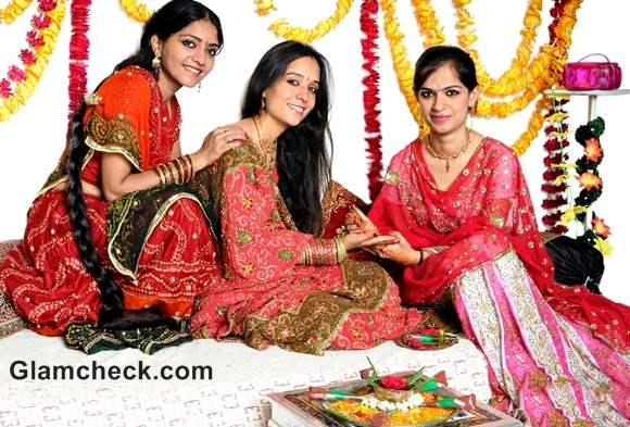 Karva Chauth mehndi designs traditional ritual