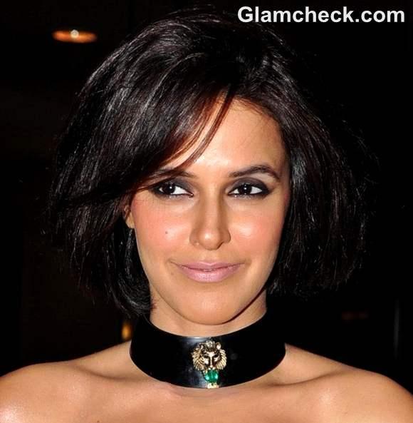 Neha Dhupia makeup hairstyle 2012 hot