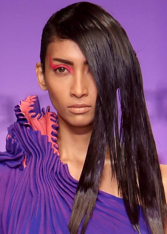 Neon eye makeup WIFW S-S 2013 Gaurav Gupta