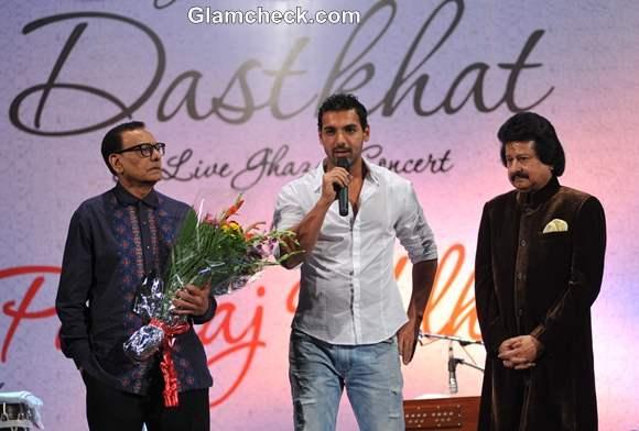 Pankaj Udhas Album Dastkhat launched by John Abraham