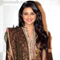 Parineeti Chopra smiles in manish malhotra anarkali suit