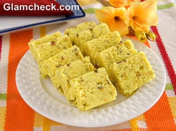 Pineapple Barfi diwali sweets