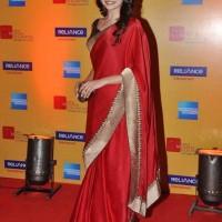 Prachi Desai Sexy in Scarlet Sari at Mumbai Film Festival