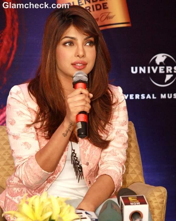 Priyanka Chopra Debut Album In My City promotion New Delhi