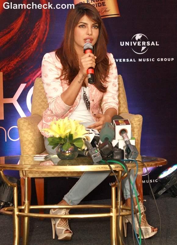 Priyanka Chopra  Promoting Debut Album In My City in New Delhi