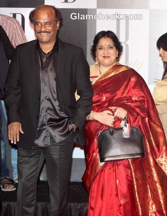 Rajinikanth wife Latha bollywood couple amitabh 70 birthday bash