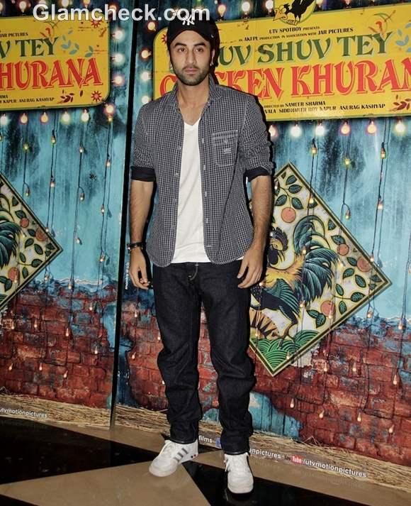 Ranbir Kapoor at special screening of Luv Shuv Tey Chicken Khurana