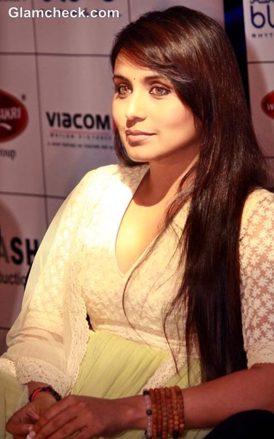 Rani Mukherjee Glossy Side Swept Hairstyle