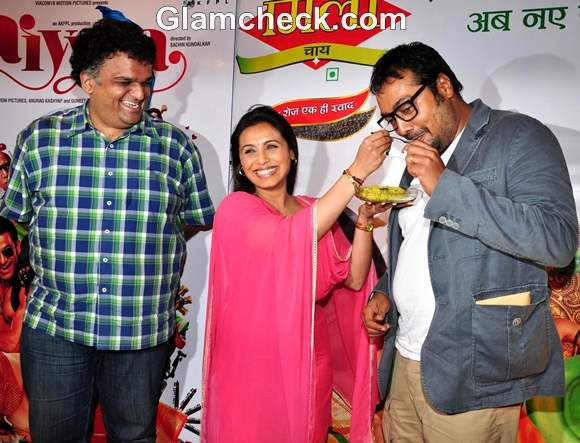 Rani Mukherjee Promotes Aiyya at Cha Poha Gathering