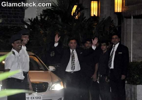 Rishi Kapoor  Saif Kareena Post Wedding Party Taj Mahal Hotel