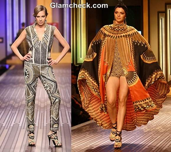 Ritu kumar grand finale WIFW S-S 2013-art deco inspired