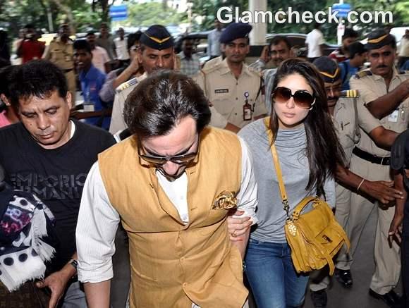 Saif-Kareena at Delhi to Prepare for Reception