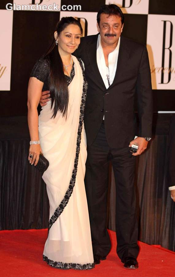 Sanjay Dutt wife Manyata bollywood couple amitabh 70 birthday bash