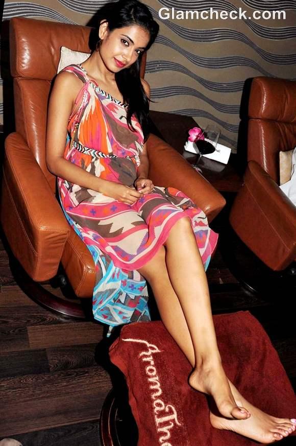 Sarah Jane Dias Surily Goel dress Aroma Thai spa launch
