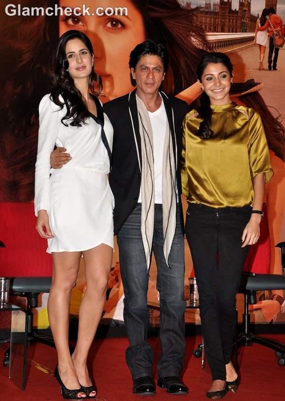 Shahrukh Khan Katrina Kaif Anushka Sharma at Jab Tak Hai Jaan Press Conference