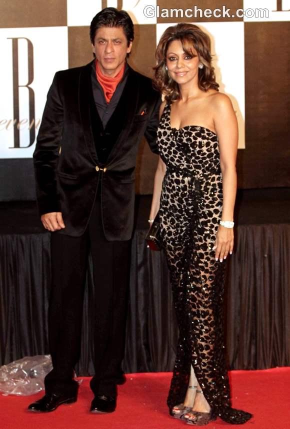 Sharukh Khan with Gauri Amitabh Bachahan 70th Birthday bash