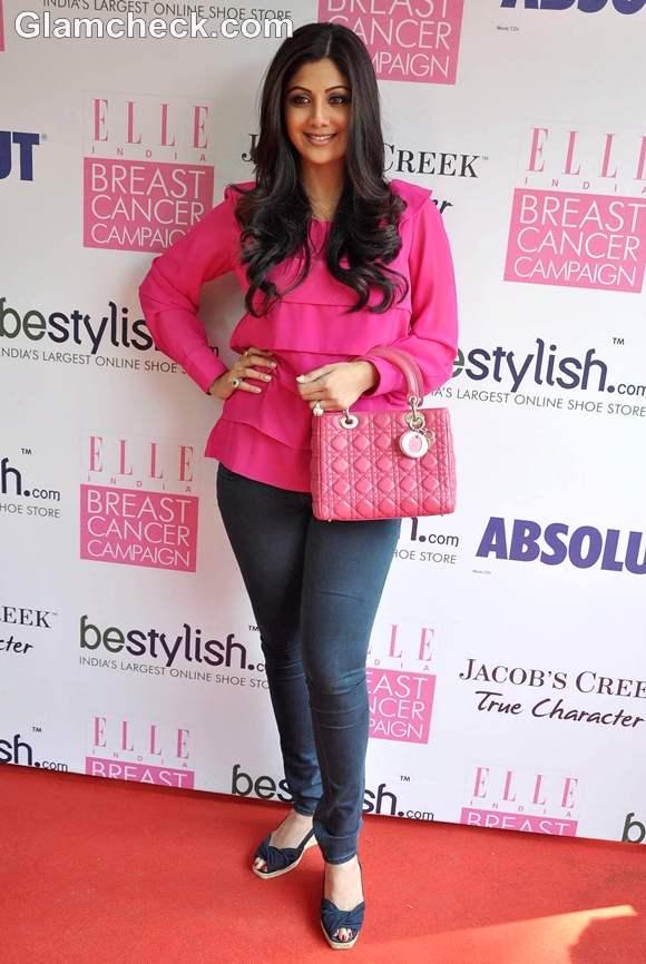 Shilpa Shetty Breast Cancer Campaign
