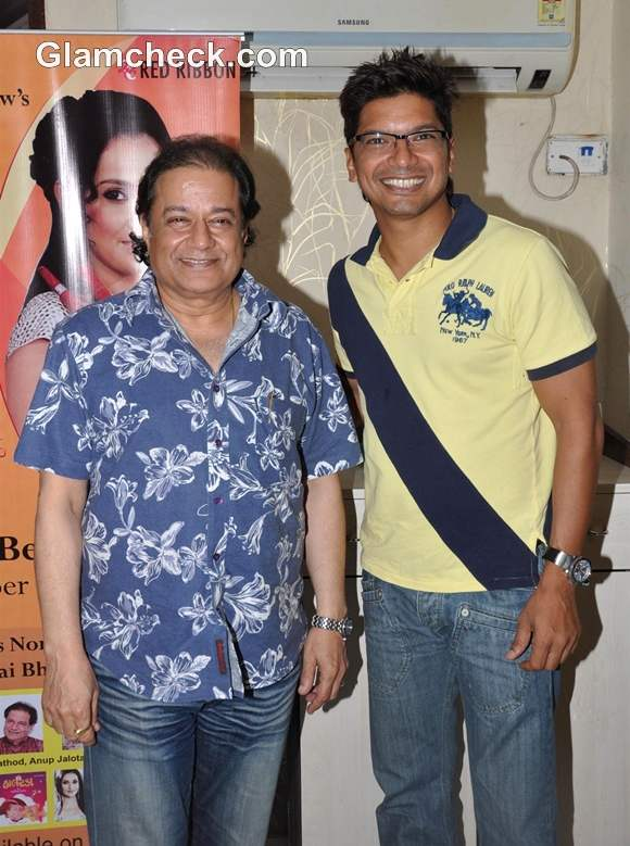 Singers Shaan and Anup Jalota at the Launch of Garba album Aye Halo